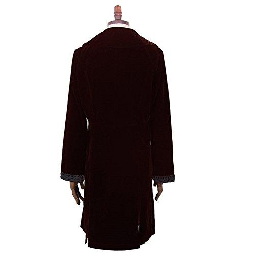 Gothic tamanos Devil Chaqueta Hombres Punk abrigo abrigo de Chaqueta manga Trenchcoat larga largo de tela de de de lana Windbreaker de 6 manga Fashion corta de 55nqrw4