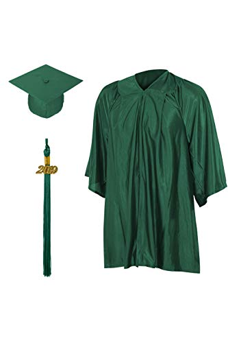 Grad Store Shiny Hunter Green Kindergarten & Preschool Child Cap, Gown & Tassel]()