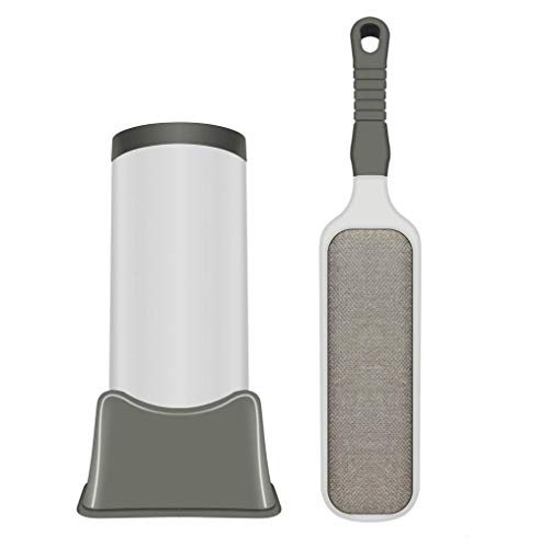 HALOFMEE Pet Fur Hair Remover & Lint Remover, Dog and Cat Hair Cleaner Brush (Upgrade) (Grey)