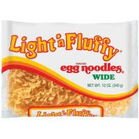 Light 'n Fluffy Wide Egg Noodles 12 oz (Pack of (Light Pasta)