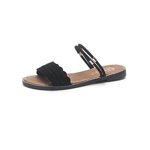 Queena Wheeler Fashion Summer Slipper Sandals Women Casual Beach Flip Flops Slides Shoe Flat Plus Size Green