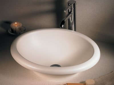 Swanstone TR01815HL.126 A4917XCPN Classics Hilo Vessel Bathroom Sink, Cloud Bone