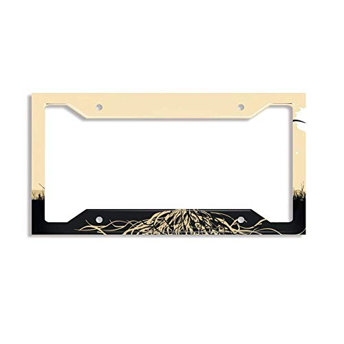luckmx License Plate Frame for Women, License Plate Frame for Girls, Funny Car Plate Frame for US - Resultado para Tatuaje Arbol ()