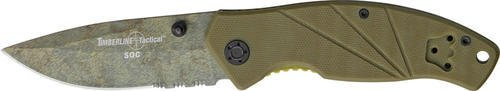 TIMBERLINE 4311 SOC Combo Edge Folding Coyote Knife with Tan Handle