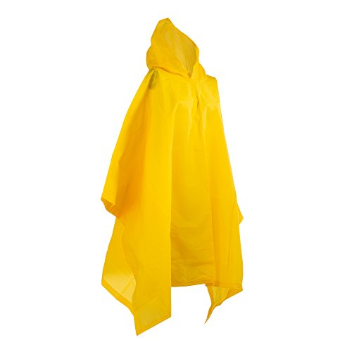 (totes Hooded Rain Poncho, Yellow, One)