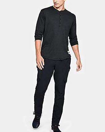 Ceder el paso Centro de producción Canal  Amazon.com: Under Armour Men's Project Rock¾ Sleeve Henley SM Black:  Clothing