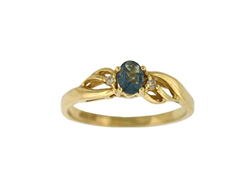 Designed by Ellen Natural Alexandrite Diamond Ring in 10K Yellow Gold ()