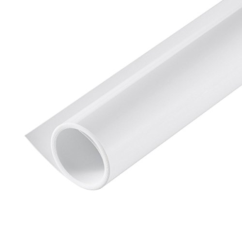 Justsimple Photography Matte PVC Backdrop Matting Background Paper for Photo Video Studio Waterproof (White, 120cm x 200cm / 47 x 79inches)]()