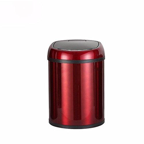Intelligent sensor dustbin 8L home creative health barrel stainless steel electronic sensor dustbin,Wine Red,8L(246348mm)