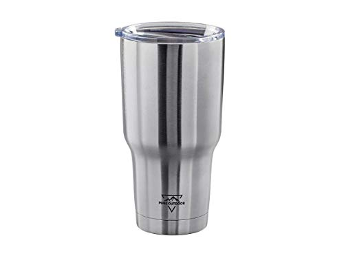 Monoprice Emperor Tumbler - 30 fl. oz. - Sliver | BPA Free, Insulated, Sweatproof, Hot and Cold - Pure Outdoor Collection (Pure Outdoor Emperor Tumbler 30 Fl Oz)