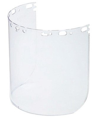 North 11390047 by Honeywell Protecto-Shield 8 1/2'' X 15'' X .07'' Clear Aluminum Bound Polycarbonate Faceshield For Use With Headgear (1/EA)