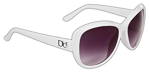 Dice lunettes de soleil pour femme Blanc - Blanc