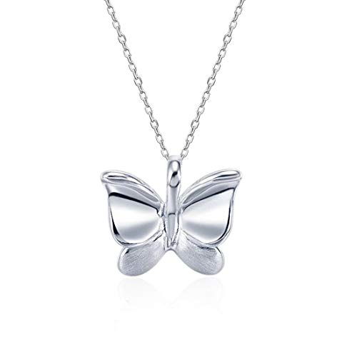 (Fancime 925 Sterling Silver Butterfly Pendant Necklace Elegant Dainty Fine Jewelry for Women Girls Her 18