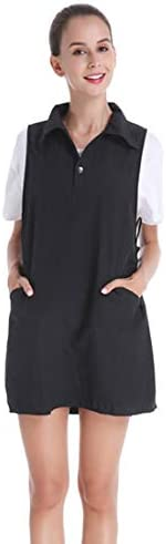 YUENA CARE Salon Apron Hair Stylist Smocks Vest Barber Shop Collar Hair Cutting Hairdresser Hairstylist Apron