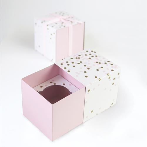Paper Eskimo Cupcake Box (Pack of 6), Pink Confetti