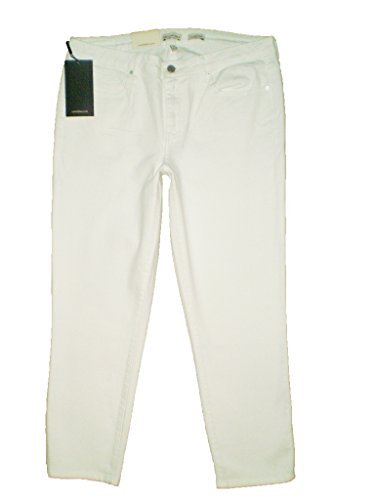 Calvin Klein Mid Rise Stretch White Denim Cropped Skinny Jeans Size 14 69.50
