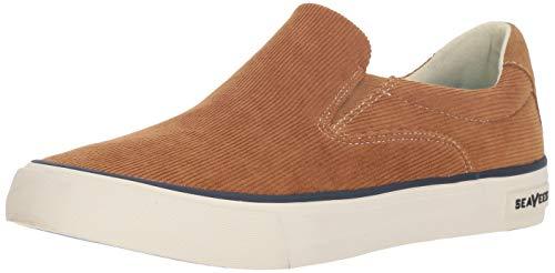 SeaVees Men's Hawthorne Slip On Cordies Sneaker, Golden Brown, 10.5 M US