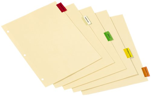 - TOPS Cardinal Insertable Index Paper Dividers, 5-Tab, Multi-Colored, (61538)