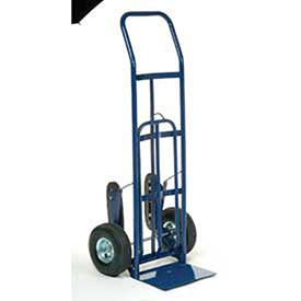 Industrial Strength Steel Hand Truck with Curved Handle & Stair Climbers by Global Industrial