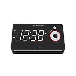 Emerson Radio ER100113 Smartset Alarm Clock Radio with Type C Quick Charger, Bluetooth Speaker, USB & Nightlight