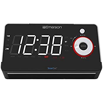 Amazon Com Emerson Radio Er100113 Smartset Alarm Clock