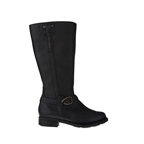 tessamino Damen Stiefel | aus Hirschleder | klassisch | Weite H | für Einlagen Schwarz