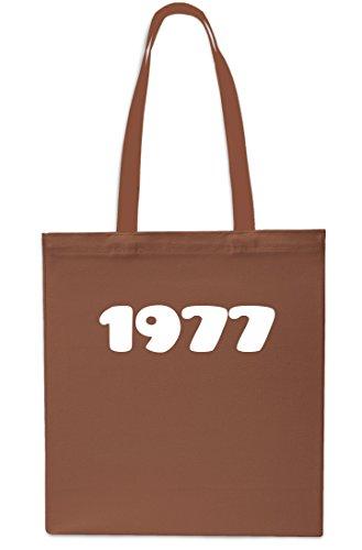 Shopping litres Tote 10 Birthday Bag 42cm Beach Gym RED x38cm CHESTNUT Anniversary 1977 Year xagI1qSq