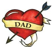 Dad Heart - Dad Heart Temporaray Tattoo