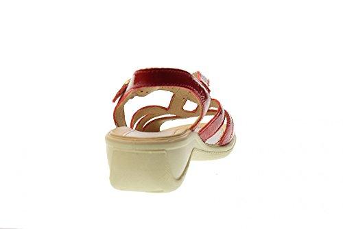 Pour Soft Red Enval 1274944 Sandales Compensées Femmes Rouge Xiqiuoa 53RcL4Ajq