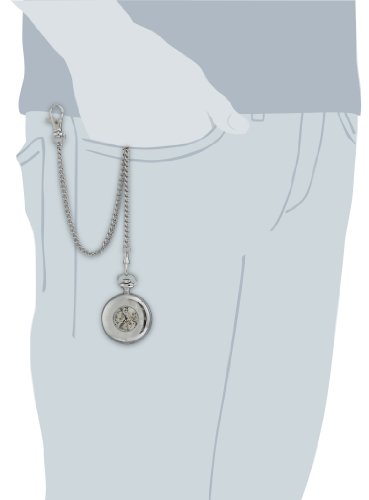 Charles-Hubert-Paris-Stainless-Steel-Mechanical-Pocket-Watch