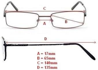 1 Dioptrien Unisex 100/% UV-Schutz Frauen +1.00 Graphit Grau Get/önte Lesebrille Sonnenbrille Designer Stil Rundum-Design M/änner