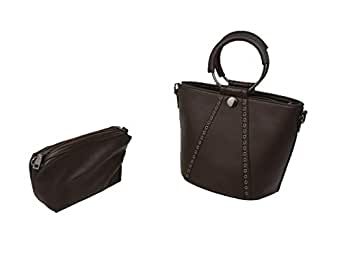 Baguette Bagsfor Women,Leather,Dark Brown