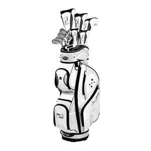 Tour Edge Women's Edge Complete Golf Club Set, Black/White (Tour Edge Golf Club Set)