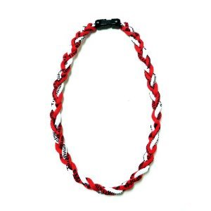"""NEW! 18"""" Kids Size Red White Tornado Necklace With Case"""