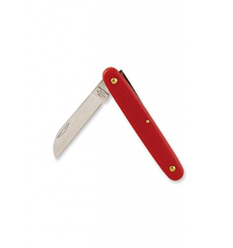 Red Opening Folding Pocket Utility Knife, floral stem or box cutter Straight Edge Blade, key ring by Royal Imports