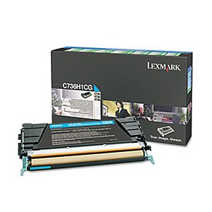 (Genuine OEM brand name Lexmark Hi-Yield Cyan Toner Rtn Program C736/X736/X738 C736H1CG)