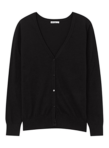 meters-bonwe-womens-solid-v-neck-long-sleeve-single-breasted-cardigan-black-l