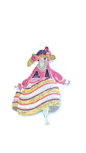 Decorate Easter Bonnet - Easter Tree Ornament Art Deco Fancy Hat Lady Handmade Holiday Gift