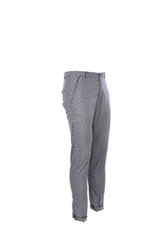 Pantalone Uomo No Lab 40 Bianco/blu Miami Alg Ln Primavera Estate 2017