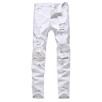 New NQ Men's Denim Patches Broken Hole Skinny-Fit Fashion Pants supplier