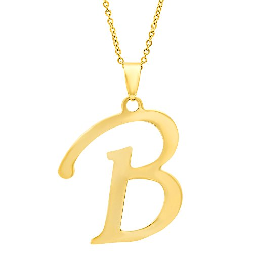 STEELTIME Beautiful Stainless Initial Necklace
