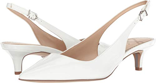 Designer Shoes Heels - Sam Edelman Women's Ludlow Pump, Bright White Patent, 8.5 M US