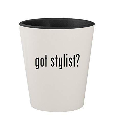 got stylist? - Ceramic White Outer & Black Inner 1.5oz Shot Glass