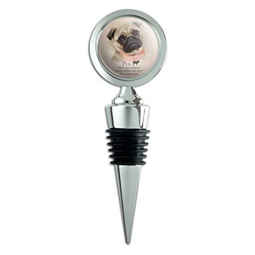 - Pug Dog Breed Wine Bottle Stopper