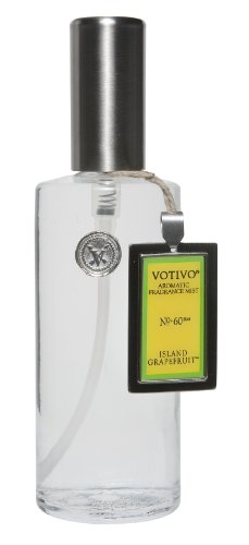 Votivo 4 oz Fragrance Mist in Glass Bottle - Island Grapefruit (Votivo Incense)