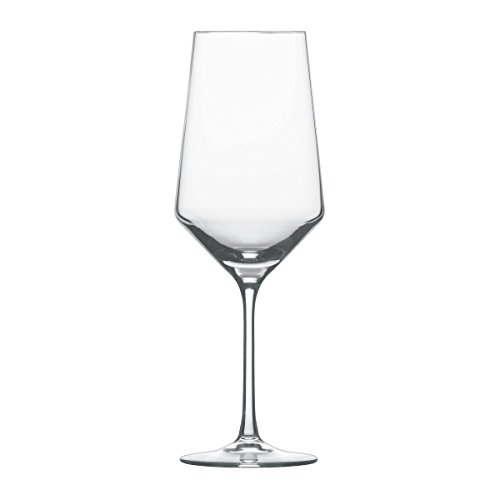Schott Zwiesel Tritan Crystal Glass Pure Stemware Collection  Bordeaux Red Wine Glass, 23-Ounce, Set of 6