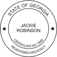 GEORGIA // REGISTERED ARCHITECT SUPPLIES // CUSTOMIZED   PERSONALIZED  PROFESSIONAL SEAL (STAMP)