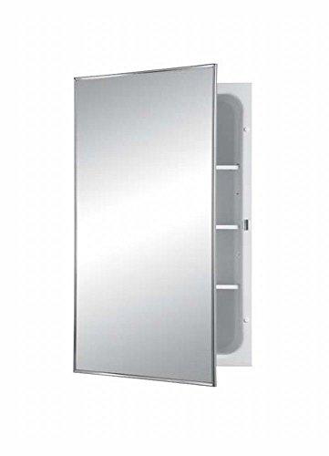 Jensen 468BC Basic Styleline Recessed Steel Medicine Cabinet, White (Recessed Medicine Cabinet 14 X 24 Wall Opening)