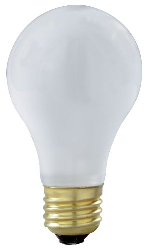 6 Pack Satco S3928 75 Watt Shatterproof Safety Coated Rough Service Light Bulbs
