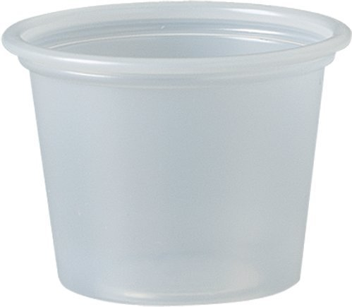 SOLO P100N 1 oz Plastic Souffle Portion Cup, Translucent, 250/Pack